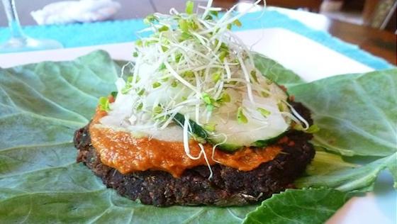 Almond Pulp Mushroom Veggie Burger Recipe