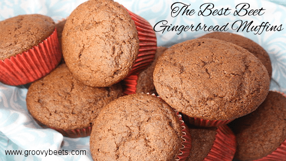The Best Beet Gingerbread Muffins