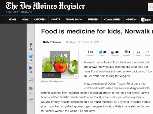 Groovy Beets on the Des Moines Register