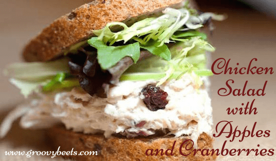 Healthy Chicken Salad Recipe with Apples & Cranberries