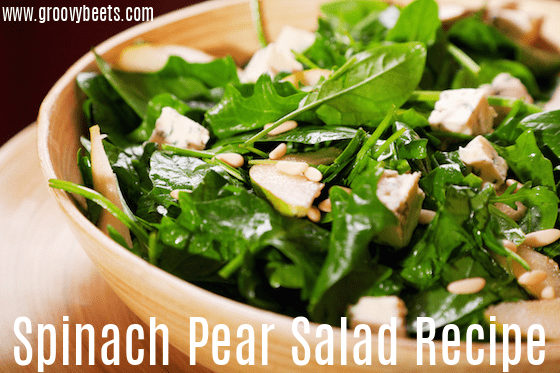 Spinach Pear Salad Recipe