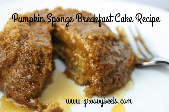 Pumpkin Sponge Breakfast Cake Recipe
