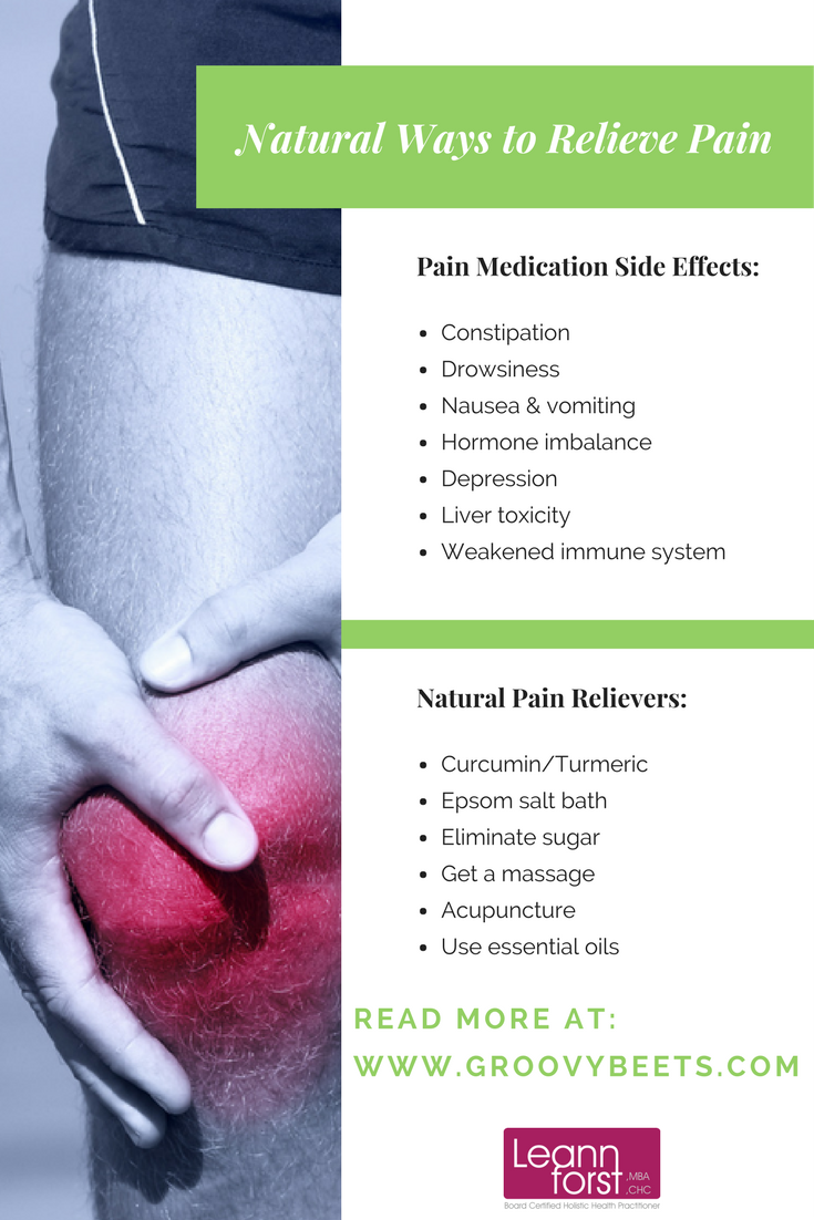 Natural Ways to Relieve Pain | GroovyBeets.com