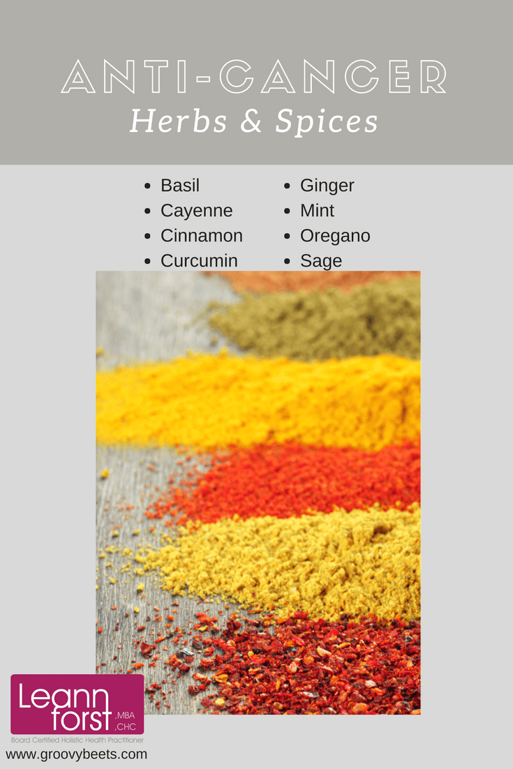 Anti-Cancer Herbs & Spices | GroovyBeets.com