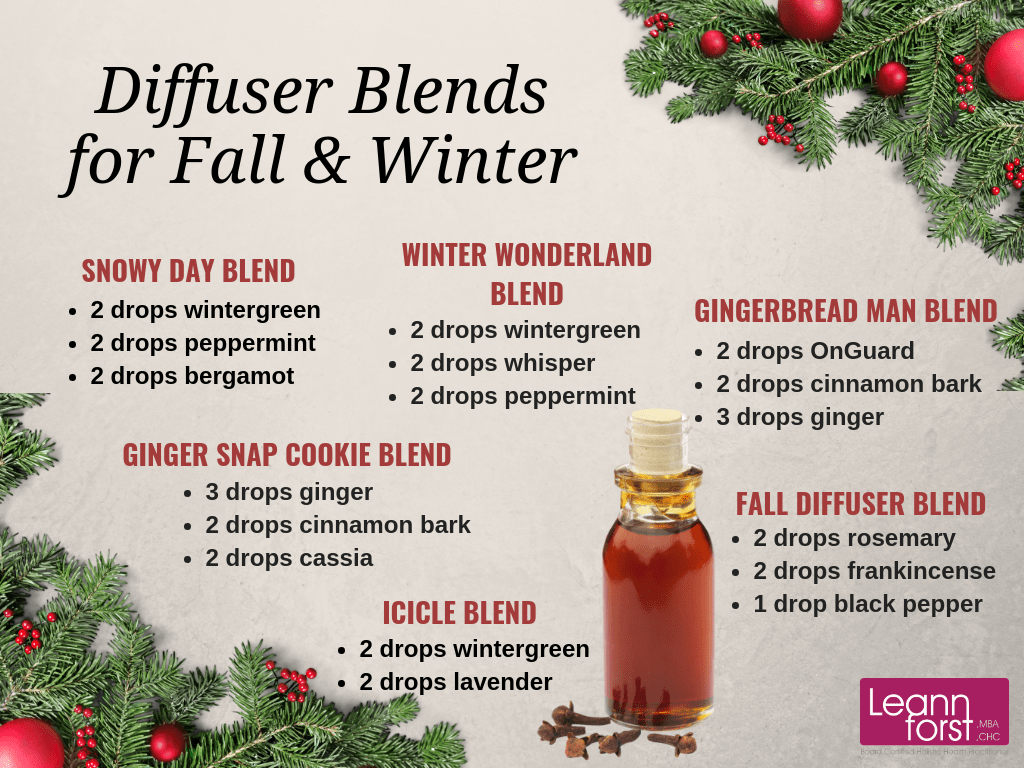 Diffuser Blends for Fall & Winter | GroovyBeets.com