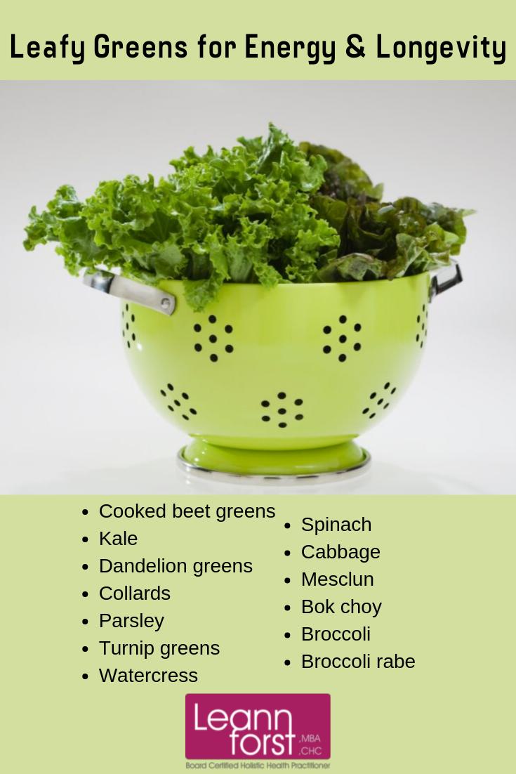 Leafy Greens for Energy and Longevity | LeannForst.com