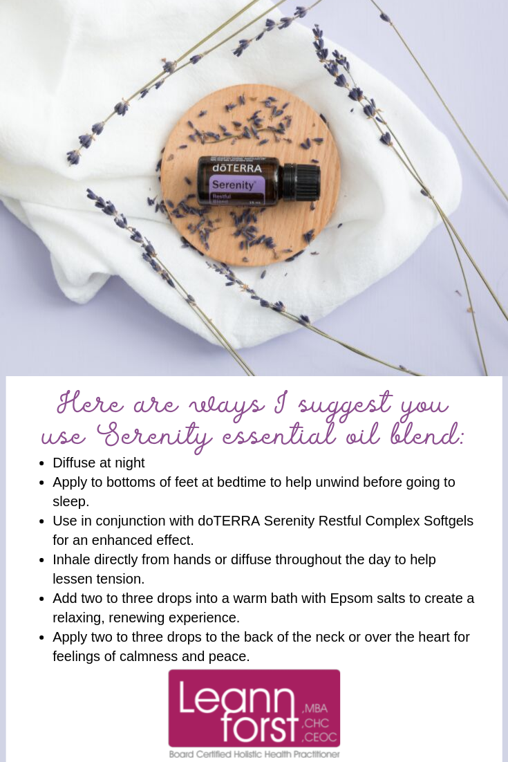 Serenity Essential Oil Blend | LeannForst.com