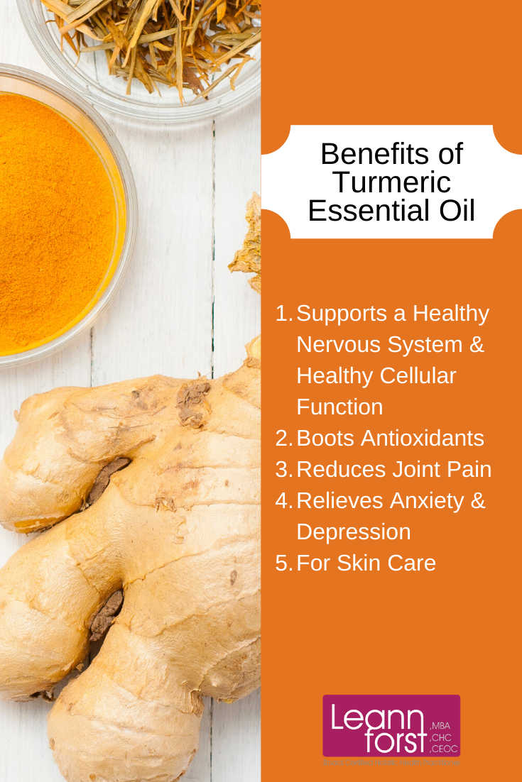 Health Benefits Turmeric Essential Oil | LeannForst.com