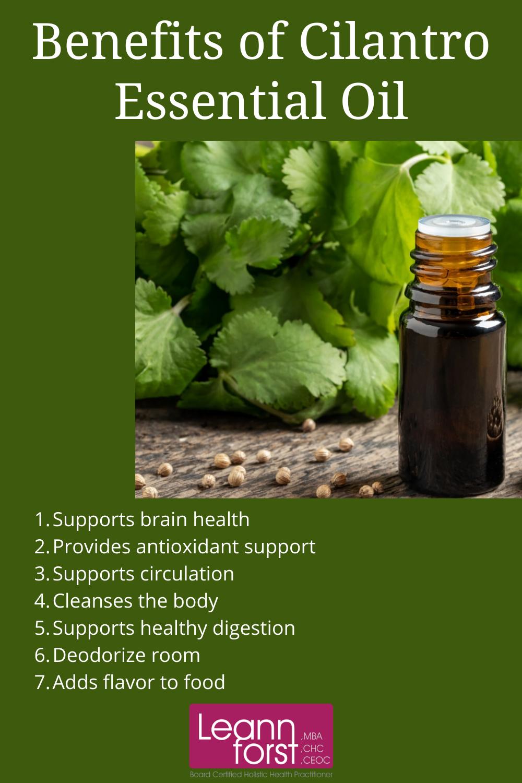 Benefits of Cilantro Essential Oil | LeannForst.com