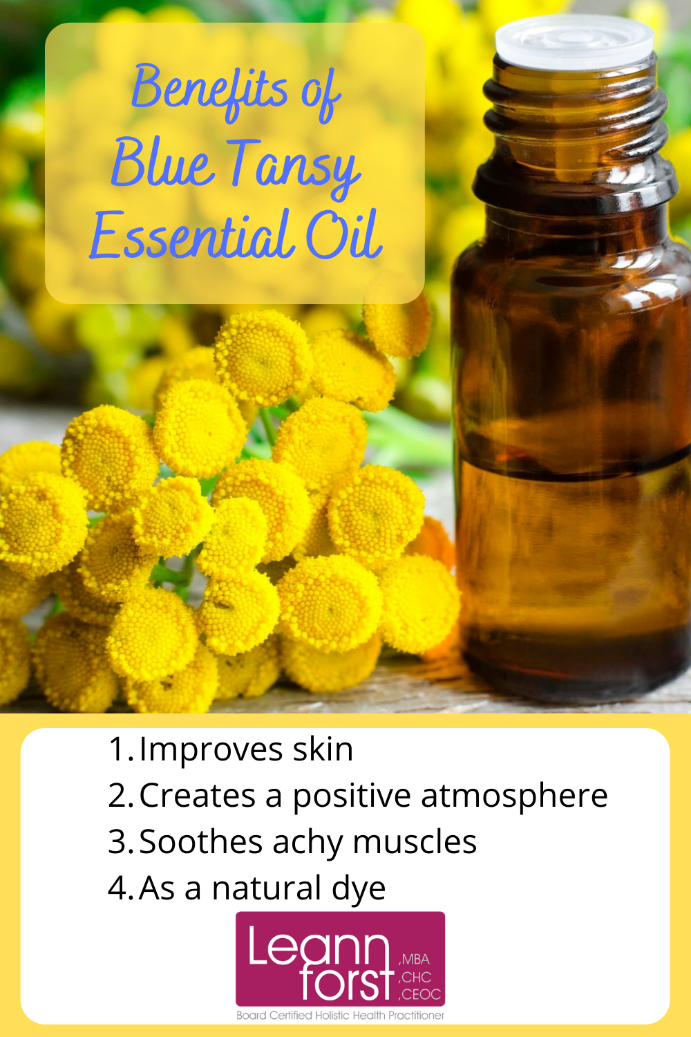 Benefits of Blue Tansy Essential Oil | LeannForst.com