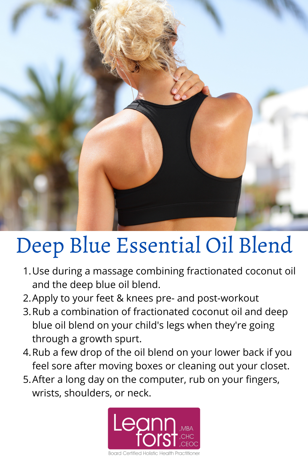 Deep Blue Essential Oil Blend | LeannForst.com